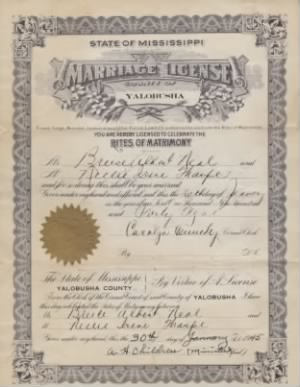 Bruce Neal's Marriage License - back.jpg