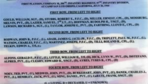 1st Platoon 386th 97 division CO M names form reunion.jpg