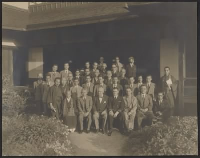 Stout and Japanese officials, 1946.jpg - Fold3.com