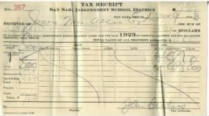 Allie Jones Estate 1923 San Saba School Tax Receipt.jpg
