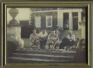 Henry Gwynne Tayloe (in hat) at home at Mt. Airy.jpg