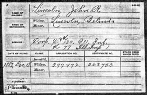 John Robert Lincoln Civial war record.jpg