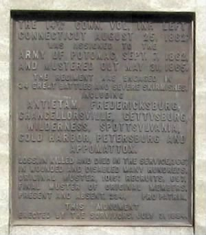 Closeup of the bronze tablet from the monument.jpg