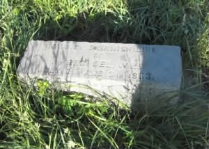 Position marker for the regiment at the site of the Bliss Farm west of Emmitsburg Road.png