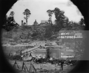 45th IL inf at Shirley house during the Vicksburg, Mississippi siege in July 863.jpg