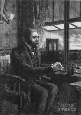Picture of Washington Roebling viewing the Brooklyn Bridge construction from his home in Brooklyn Heights.jpg