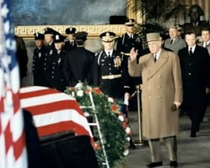 President Charles DeGaulle paying respects to Eisenhower.jpg