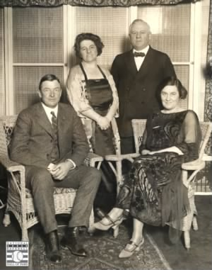John McGraw & Christy Mathewson with their wives, Blanche and Jane.jpg
