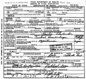 Wiley Carpenter Alexander 1950 TX Death Cert.jpg