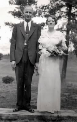 Harry & Nettie (nee Bryant) Melrose, wedding photo, 1937.jpg