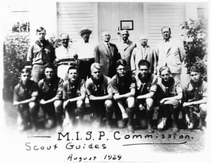 This group of scouts in 1929 include Gerald R. Ford (front row, left of center)..jpg