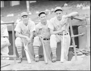 New York Giant Jo-Jo Moore, player-manager Mel Ott, and Carl Hubbell.jpg