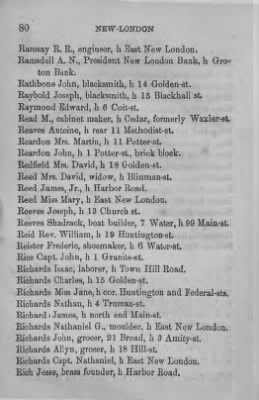 Page from a New-London, Connecticut directory