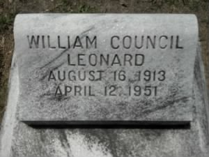 William Council Leonard Headstone.jpg