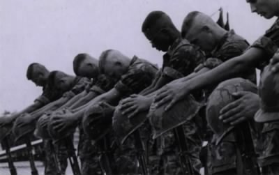 Marines honor their fallen comrades, Vietnam