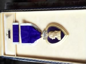 Purple Heart posthumously awarded to Victor L. Meyers.JPG
