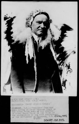 Pres. Coolidge as Chief Leading Eagle › Page 1 - Fold3.com