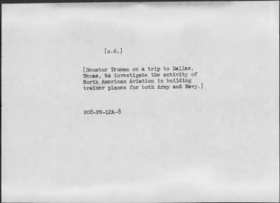 Truman, Harry S. Boyhood and Youth Solider Judge Senator Truman Committee Vice President Duties and Functions Former President › Page 59 - Fold3.com