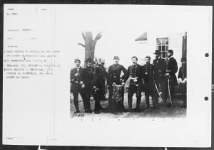 B-498 Gen. George B. McClellan and Staff of