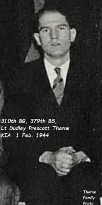 310,379, Dudley P Thorne KIA 1 Feb.'44.na