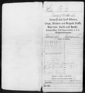 Fold3 Image - Page 1 (of 67) of Robert E. Lee's Civil War service record