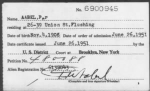 Naturalization Index - NY Eastern Nov 1925-Dec 1957
