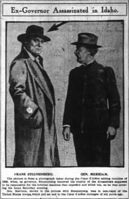 Governor Steunenberg and General Merriam c 1899