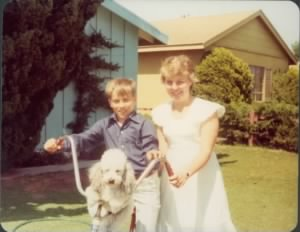 Diane and Robbie Bell with dog Buffy.jpg