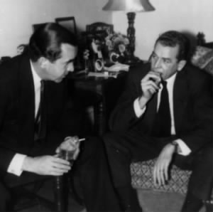 Charles Collingwood with Edward R. Murrow
